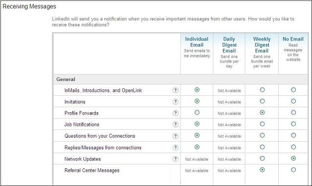 LinkedIn-Message-Settings