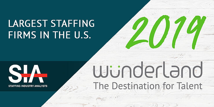 Wunderland_SIA Largest Staffing Firms in the US 2019